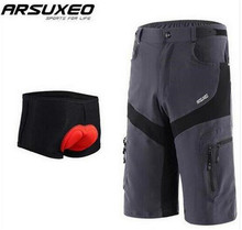 ARSUXEO Men Bike Cycling Shorts Underwear Outdoor Sports Downhill MTB Road Mountain Resistant Breathable