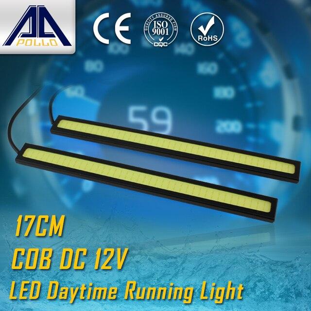 2pcs 17cm LED car DRL COB Daytime Running light 100% Waterproof led Car Driving light fog parking lamp Warning Light Source