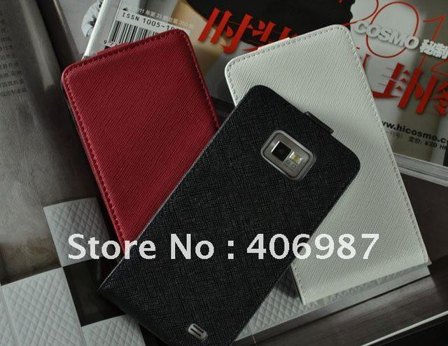Original Faddist cross pattern leather case For samsung galaxy s2 i9100 handbags smartphone perfume luxury retail package