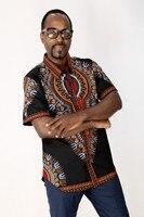 African Dresses Dashiki Clothing Rushed Men Winter Wedding Explosion National Batik Cloth Cotton Short Sleeved Collar Shirt