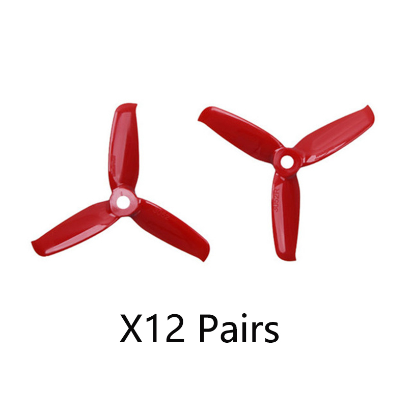 Gemfan Flash <font><b>3052</b></font> 3.0x5.2 PC 3-Paddle Propeller Prop 5mm Mounting Hole for 1306-1806 Motor RC Drone Blue Red Pink Black image