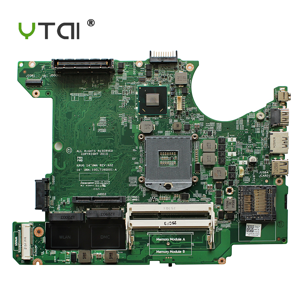 YTAI for Dell Latitude E5420 Laptop Motherboard HM65 DDR3 DP/N 006X7M UMA:10ELT16G001-A mainboard fully tested excellent quality for dell 2520 laptop motherboard mainboard 0wcp0c 100% fully tested