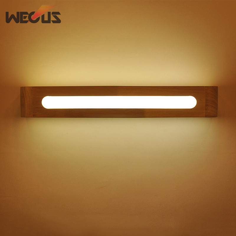 Creative Nordic Bedroom Wood Wall Light 110V 230V 3W Foyer Study Background Lamp Bathroom Mirror Lighting
