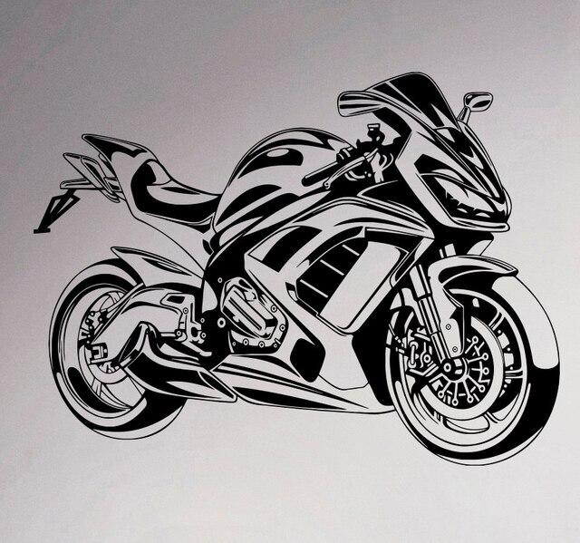 sport bike wall vinyl decal motorbike sticker removable garage decor