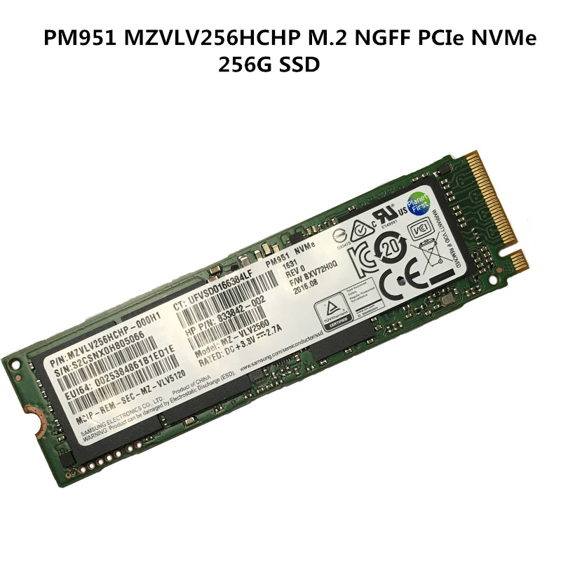 NEW LAPTOP SSD Disk For Samsung PM951 MZVLV256HCHP M.2 NGFF PCIe NVMe 256G SSD Tested Normally Working