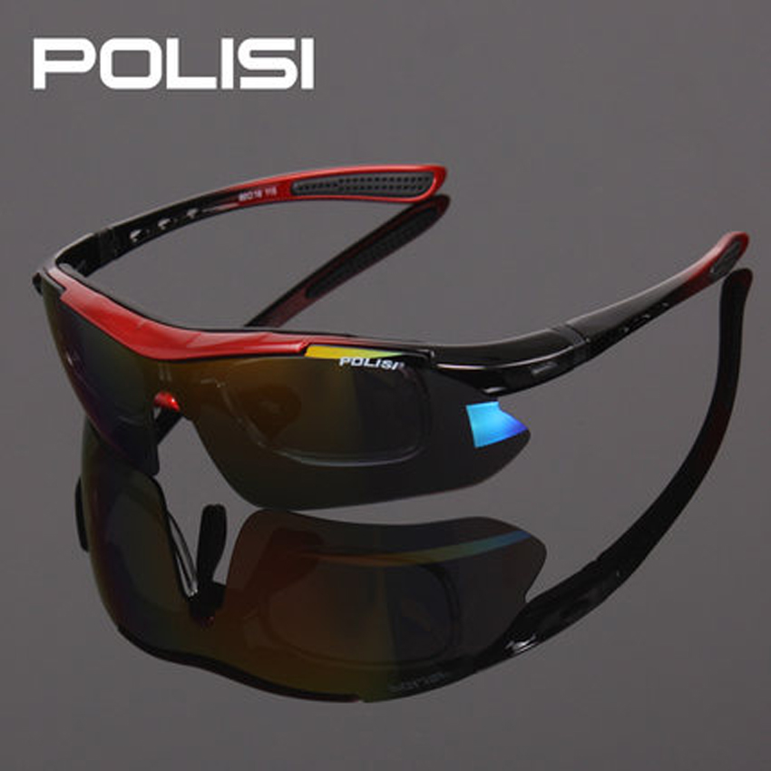 New Cool Polarized Cycling Glasses Wind-proof Cycling Eyewear Goggles Cycling Sunglasses Sports Eyewear 5 Lenses 7 Colors 8004 hodgson brand new designed anti fog cycling glasses sports eyewear bicycle goggles bike sunglasses with 2 polarized lenses