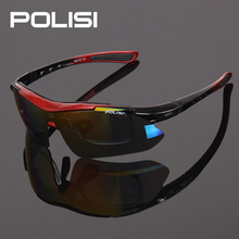 New Cool Polarized Cycling Glasses Wind-proof Cycling Eyewear Goggles Cycling Sunglasses Sports Eyewear 5 Lenses 7 Colors