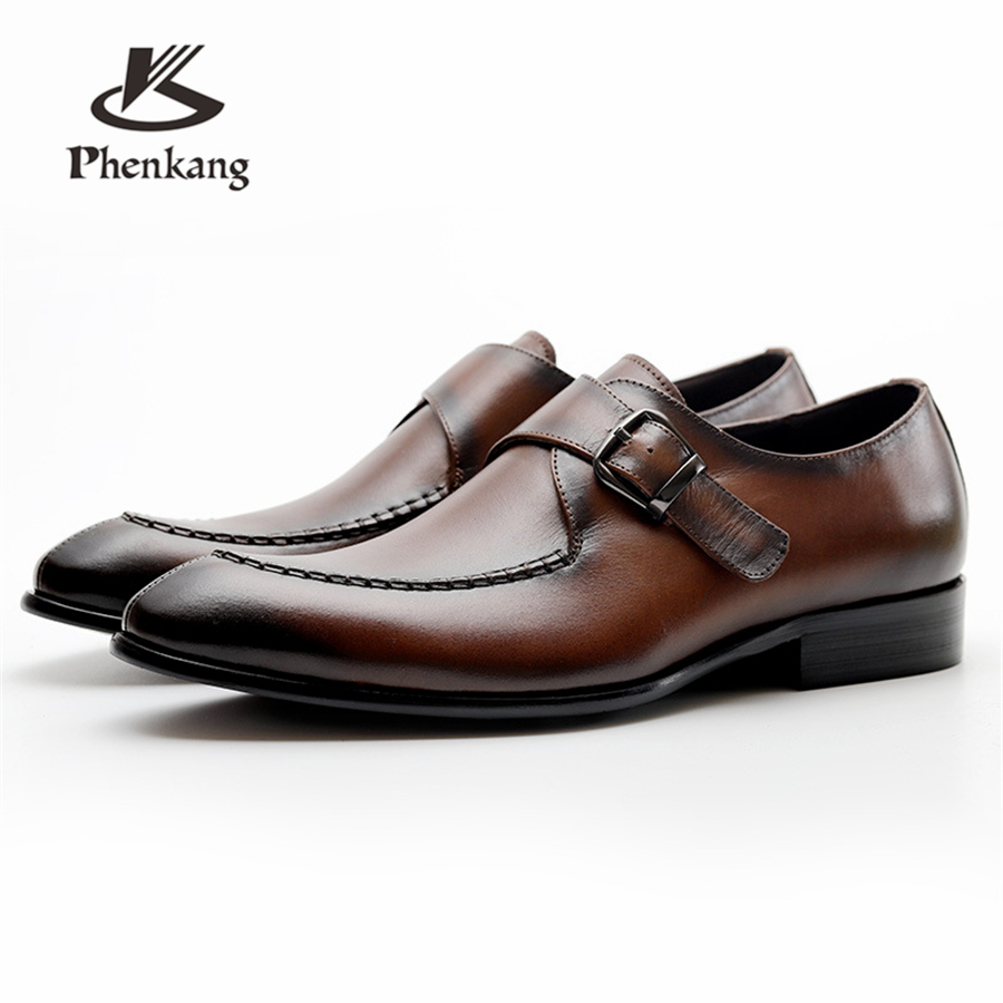Mens formal shoes leather oxford shoes for men dressing wedding mens brogues office shoes buckle male zapatos de hombreMens formal shoes leather oxford shoes for men dressing wedding mens brogues office shoes buckle male zapatos de hombre