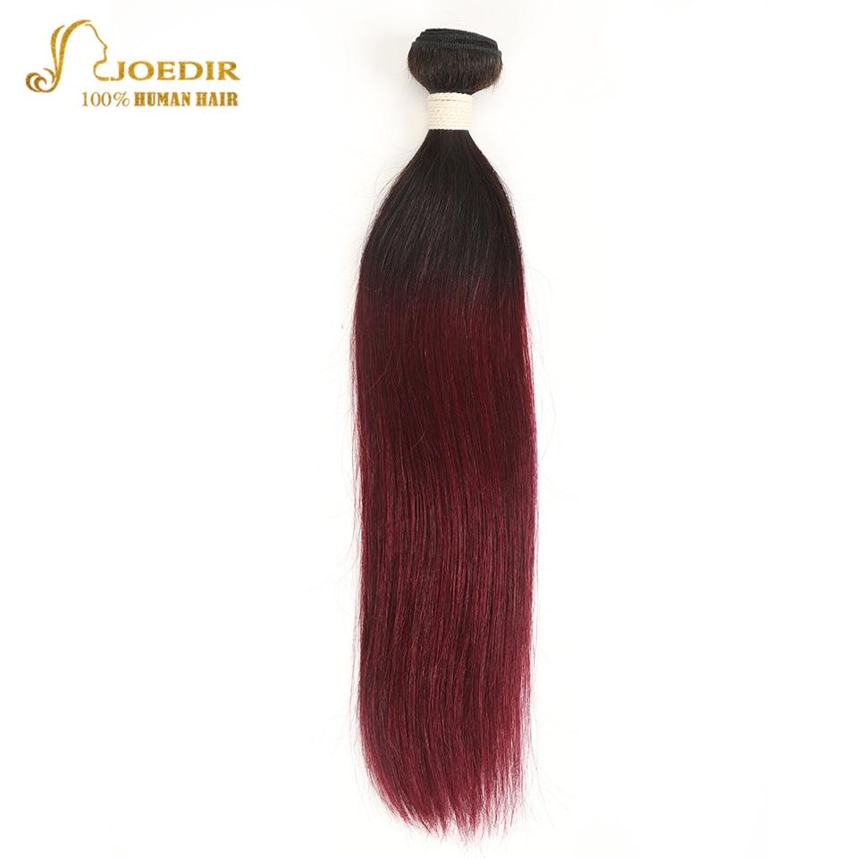 Joedir Hair Pre-Colored Brazilian Remy Hair Straight Human Hair Weave Bundle Deal T1B 99J Burgundy Ombre Hair Bundles Wine Red