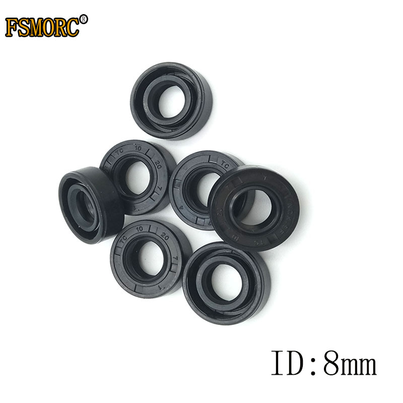 NBR Shaft Oil Seal TC-8*12*13*14*15*16*18*19*20*22*23*25*26*28*30*34*3/4/5/6/7/8/9 Nitrile Covered Double Lip With Garter Spring