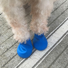 Dog Shoes Pets Boots Socks Waterproof Rubber Rain Non Slip Outdoor Puppies Candy Color