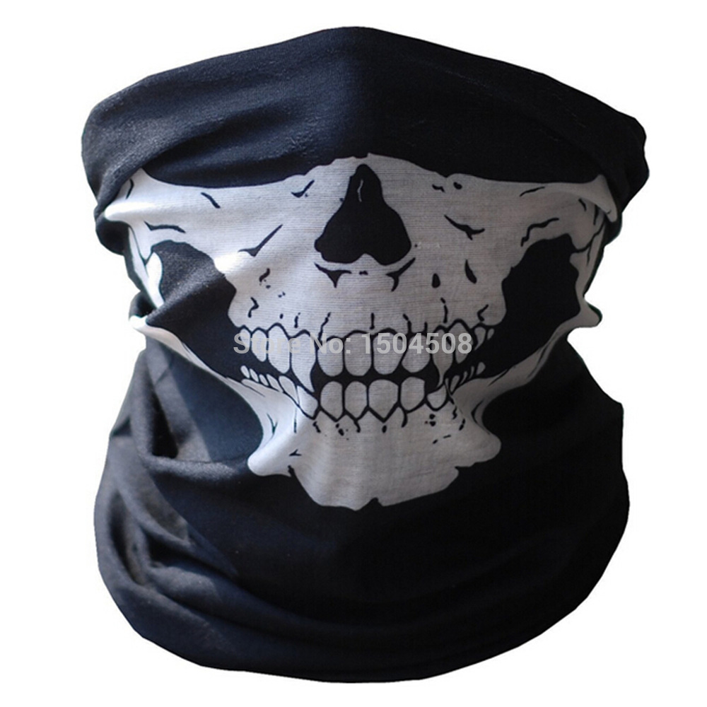 Free Shipping Air Force Skull Tubular Protective Dust Mask Bandana Motorcycle Riding Polyester Scarf Face Neck Warmer Mask summer dust proof sunscreen neck mask female outdoor riding mask