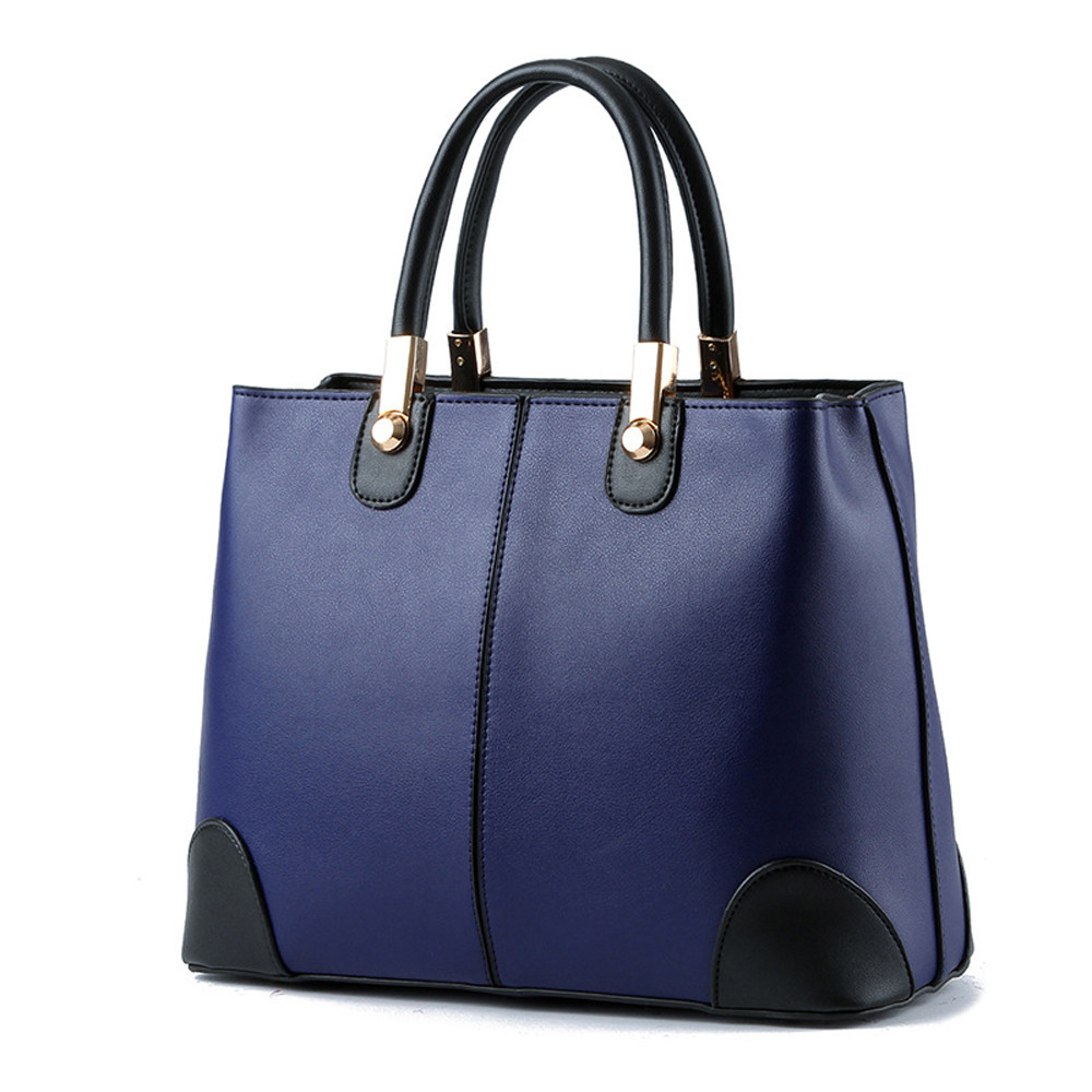 PU Leather Top-handle Women Handbag Solid Ladies Lether Shoulder Bag Casual Large Capacity Tote Crossbody Bag schoudertas 12.179