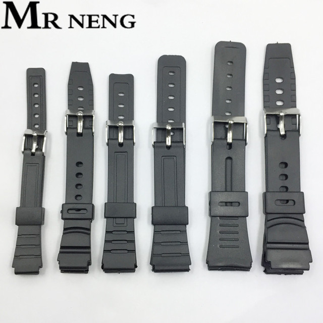 16mm 18mm 20mm 22mm Watchband Silicone Rubber Bands Watches For EF Replace Elect