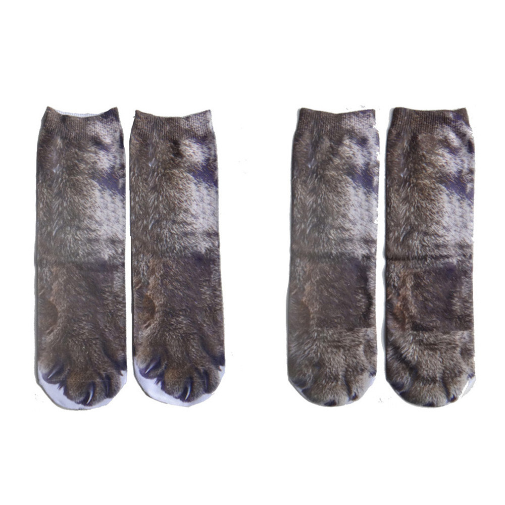 2018 Polyester funny socks fashion Women Man Adult Unisex 3D cute Animal Paw Crew Socks Sublimated Print Socks winter socks