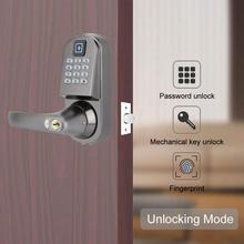 S200 Fingerprint Password Mechanical Key Smart Digital Door Lock Anti-Theft Gate Lock digital touchscreen code door lock entrance anti theft door lock smart locks password key card os008c