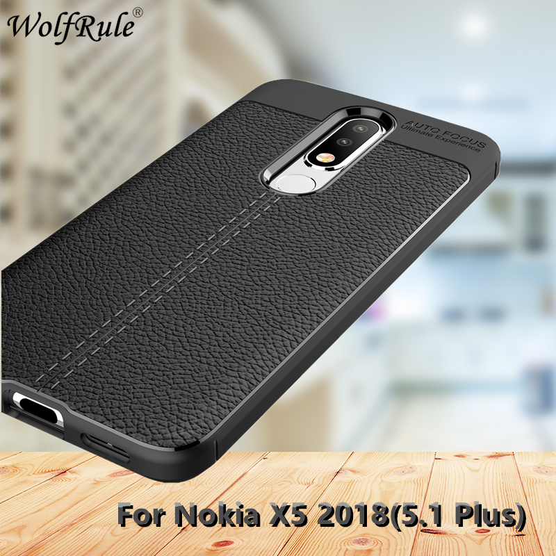 WolfRule For Shell <font><b>Nokia</b></font> X5 Case <font><b>Nokia</b></font> X5 Cover <font><b>Luxury</b></font> Soft Silicone Leather Design Phone Case For <font><b>Nokia</b></font> <font><b>5.1</b></font> Plus Fundas 5.86