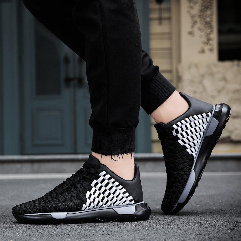 LAOCHRA Mens Woven Shoes Casual Shoes 2018 Spring Summer Harajuku - Kasut lelaki