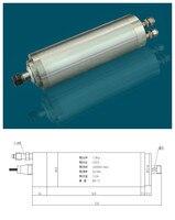 1.5HP ER11 40000 RPM de alta velocidade do motor 1.2kw água de 220VAC 5A 670 HZ 62 mm 4 de CNC Router|Eixo da máquina-ferramenta| |  -
