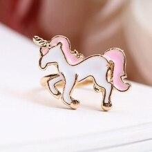 Resizable Enamel Unicorn Ring