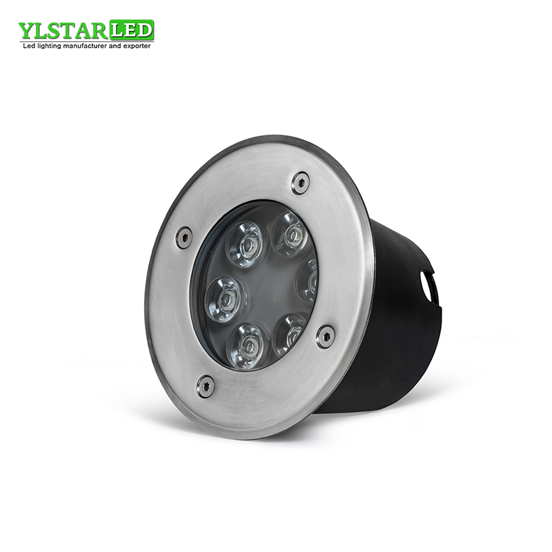 YLSTAR Free Shipping Waterproof led light garden underground 6W IP67 Outdoor Buried Garden Path Spot Recessed Inground Lighting free shipping led underground lamps 6w inground light ip67 built in outdoor lighting ac85 265v lul a 6w 3years warranty