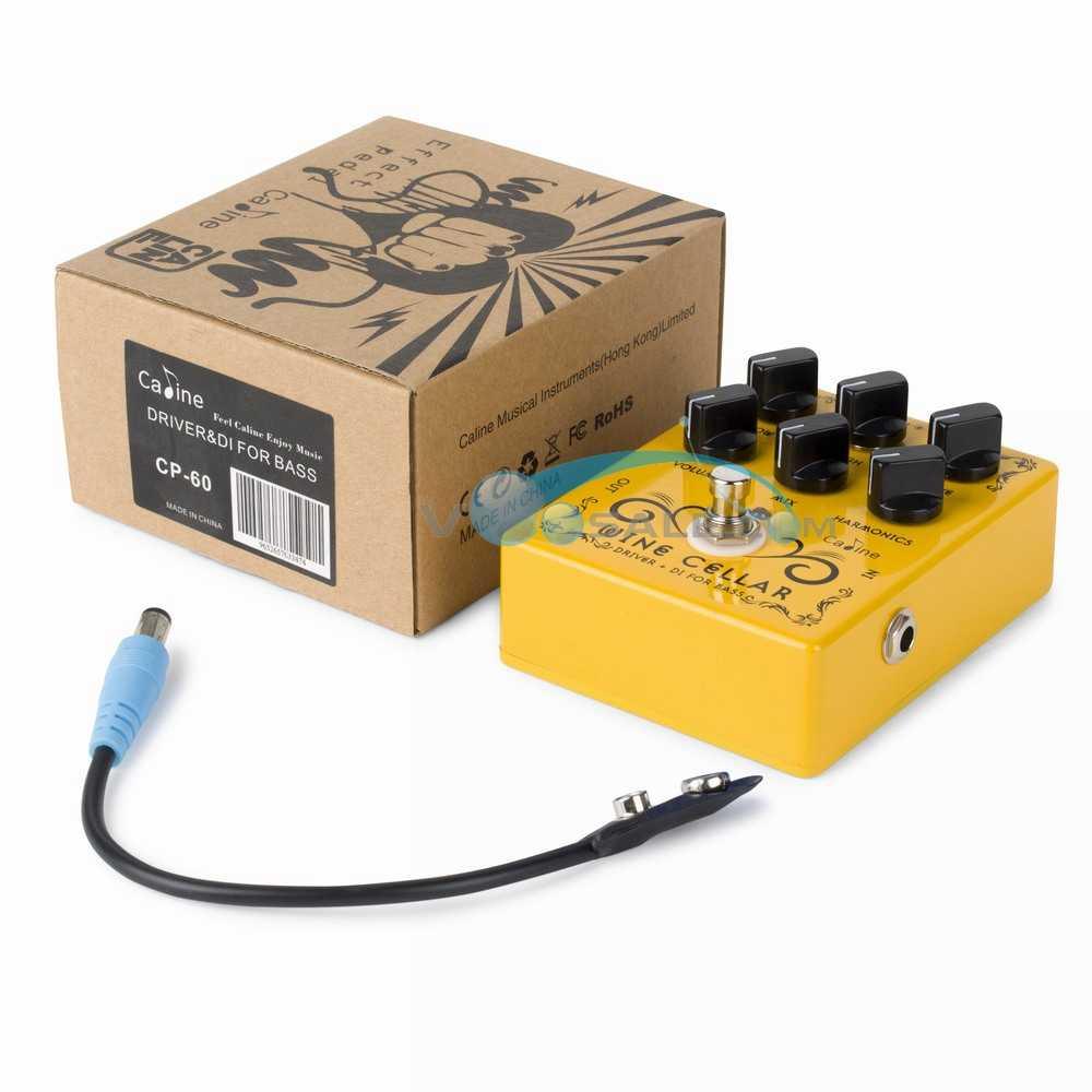 2 قطعة Caline CP-60 سائق + DI ل باس الغيتار دواسة تأثير 9 فولت تأثير الغيتار الاكسسوارات دواسة صغيرة الغيتار أجزاء CP60 دواسة