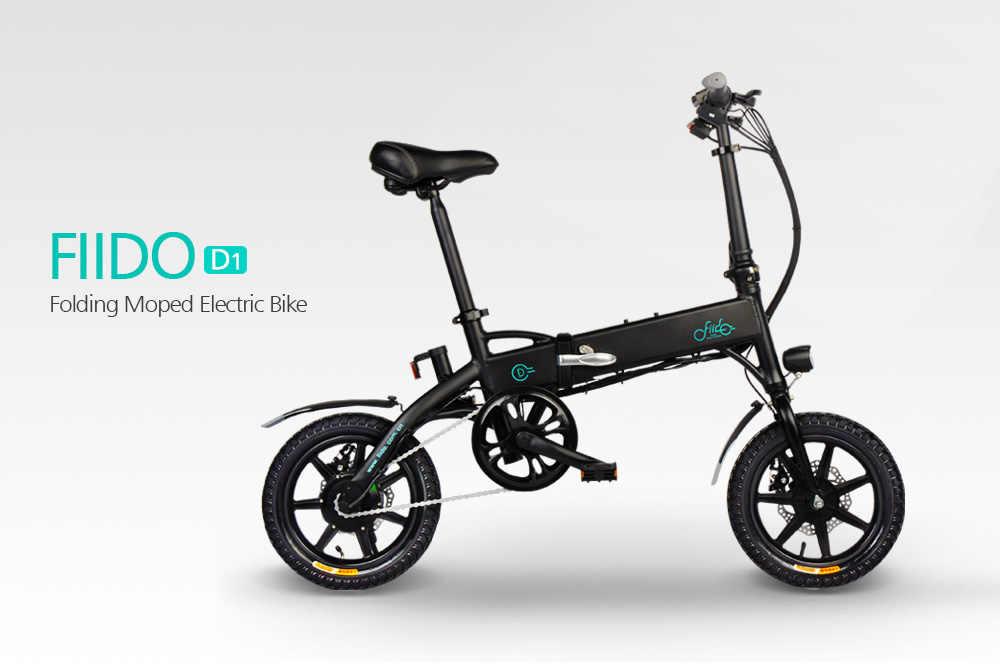 2019 chegada nova bicicleta elétrica 14 polegada d1 7.8ah dobrável ciclomotor elétrico pneu de borracha inflável com freio a disco fiido