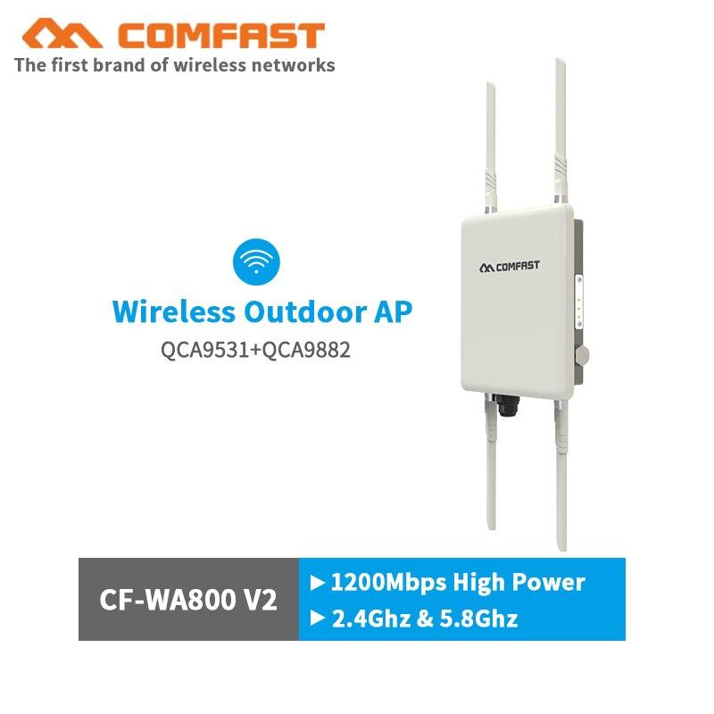 Comfast 1200 Mbps double bande 5 Ghz haute puissance extérieure AP 360 degrés couverture omnidirectionnelle Point d'accès Wifi Station de Base routeurs