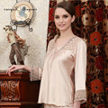 Tinyear Wholesale Silk Bridal Nightwear Satin Pajamas Women Sexy Lingerie Two-Piece Set Nightwear For Bride Women