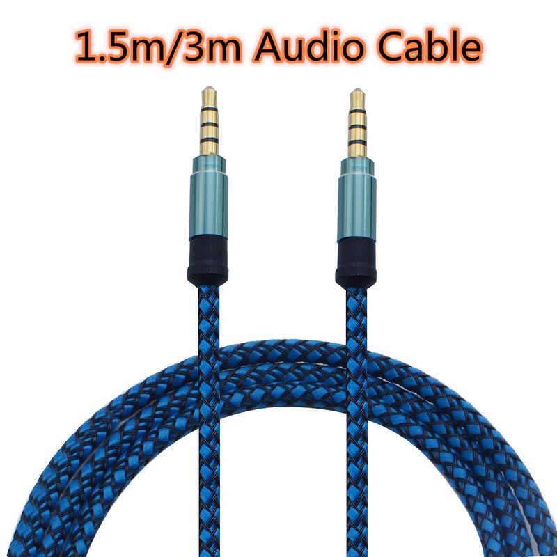 3/1.5m AUX Cable Jack 3.5mm Audio Cable 3.5mm Jack Cable Earphone Audio Adapter for Car MP3 MP4 Headphone Aux Line for Samsung