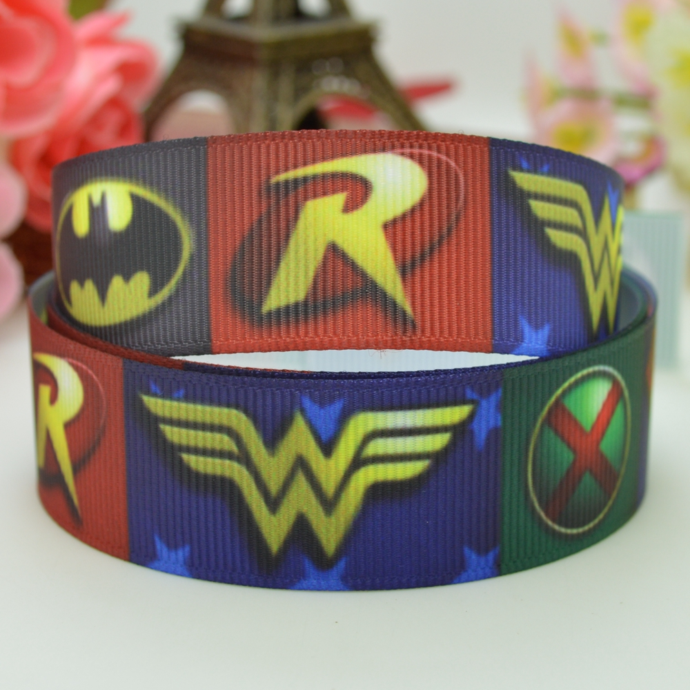 "2 Yards 7//8/"" Wonderwoman Superhero Marvel Grosgrain Ribbon"