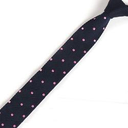 Для Мужчин's Темно-синие розовый горошек Галстуки в горошек Классическая вязать галстук тонкий Тощий Вязаные Галстуки Жених Свадебная