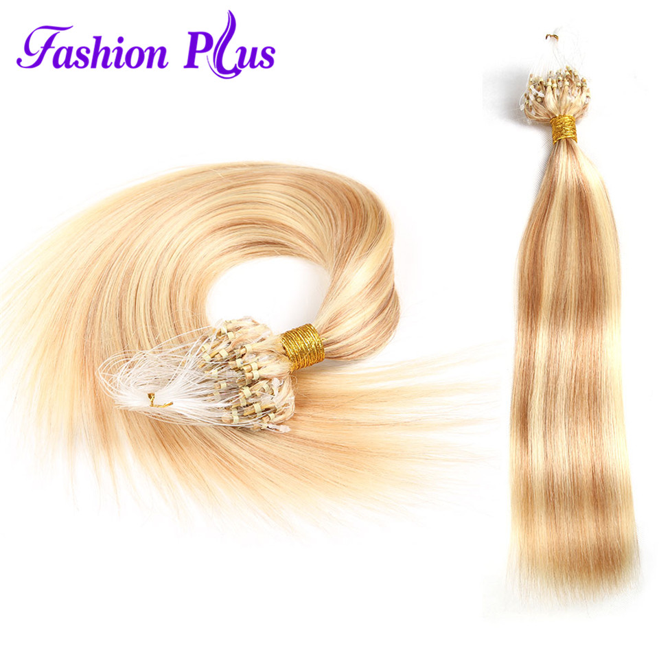 Hot Sale Indian Virgin Hair Stright 100strands Human Hair Weave Micro - Menneskehår (hvid) - Foto 5