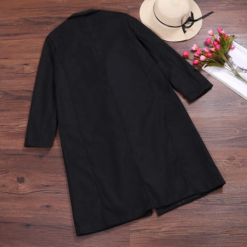 2019 ZANZEA Women Wool Blends Coat Winter Autumn Female Long Sleeve Double Breasted Long Jacket Plus Size Casual Windbreakers 12