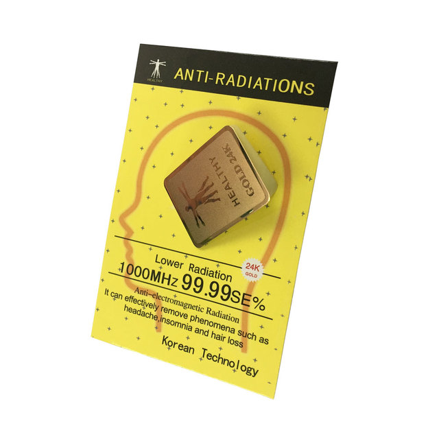 Gold 24K Sticker Healthy Anti Radiation Protector Shield For Mobile Phone/IPAD Sticker 1000 IONS  Lower Radiation 99.99SE%