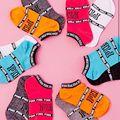 2016 Letter PINK Pattern Short Women Socks Fitness Spring Summer Cute Cotton Sock Meias Female Fashion Brand Cartoon Girls Socks