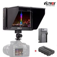 Viltrox DC 70II 7 4K LCD Camera Video Monitor HDMI AV Input 1024*600 Display For Canon Nikon BMMCC DSLR & battery & charger