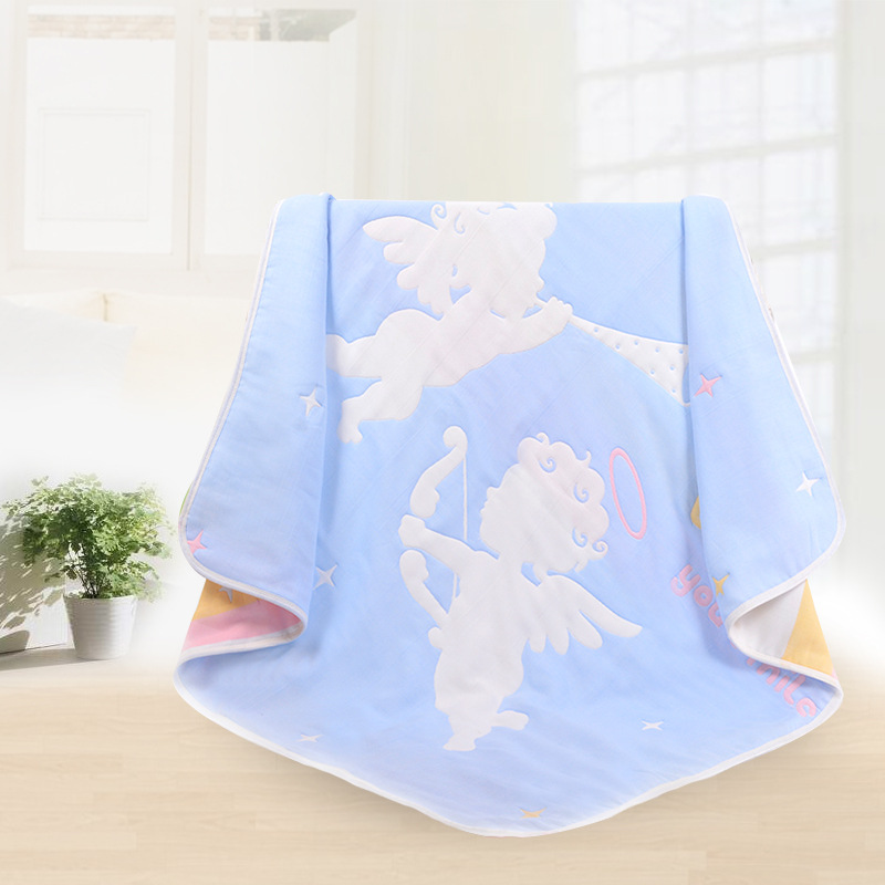 Baby Blanket 8 Layers of Cotton Gauze Children Are 110*110CM Soft and Comfortable Kawaii Cartoon Solitary Towel 2018 Spring New mydyicat 8 110cm