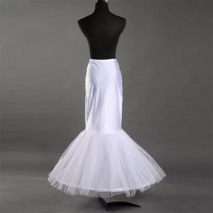 Image 2 - White 1 Hoop Fishtail Mermaid Skirt Wedding Dress Crinoline Black Bridal Petticoat Slips
