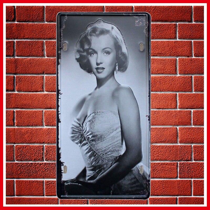 ٩(^‿^)۶Nueva Marilyn Monroe metal coche Marcos de matrícula vintage ...