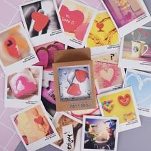 40 pcs/lot Loving Heart Mini Lomo Card Greeting Card Postcard Birthday Letter Envelope Gift Card Set Kawaii Stationery Papeleria