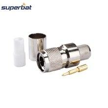 Superbat 10 шт. РЧ коаксиальный разъем, обжимной штекер TNC для коаксиального кабеля RG8 RG213,RG214,LMR400