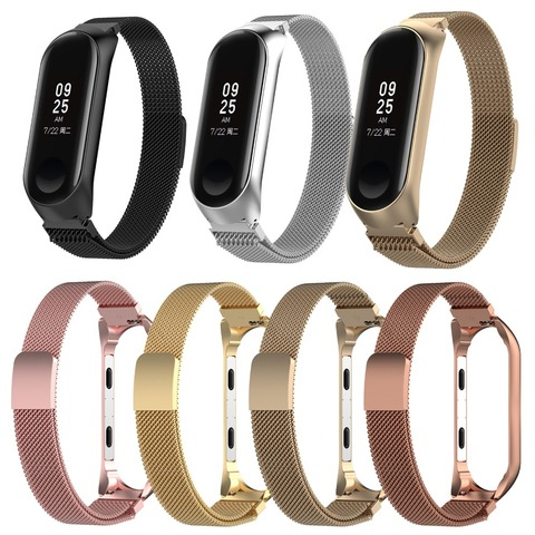 XBERSTAR Stainless Steel Watch Band Strap for Xiaomi Mi Band 3 MiBand 3 Milanese Magnetic Loop Wristband Watchbands Strap Pakistan
