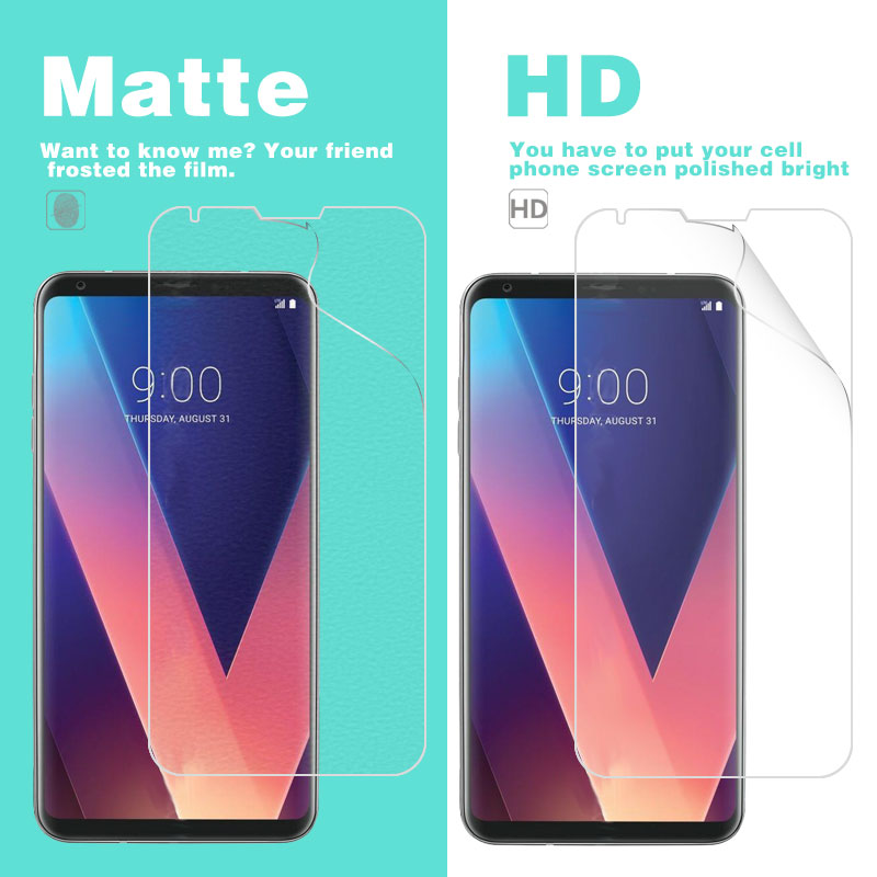 Anti-Glare Matte Film For LG V35 THINQ V350ULM 6 in HD Clear Glossy Film Cell Phone Screen Protector Cover + Cleaning Tools