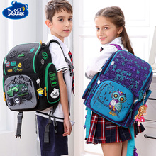 2018 3D Cartoon Owl School Backpack for Girls Boys Students School Bag Children's Orthopedic Backpacks mochila infantil