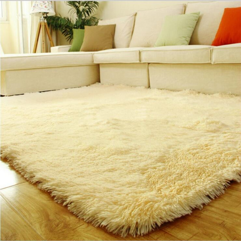New Fashion Shaggy Carpet Beige Rug Anti-skid Carpets Fit for Living Room And Bedroom Soft Carpet 140*180cmNew Fashion Shaggy Carpet Beige Rug Anti-skid Carpets Fit for Living Room And Bedroom Soft Carpet 140*180cm