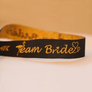 Image 5 - Braut Zu Werden Bachelorette Party Brautjungfer Armband Team Braut Tribe Hand Band Hen Nacht Hochzeit Supplie decor IdentificationMark