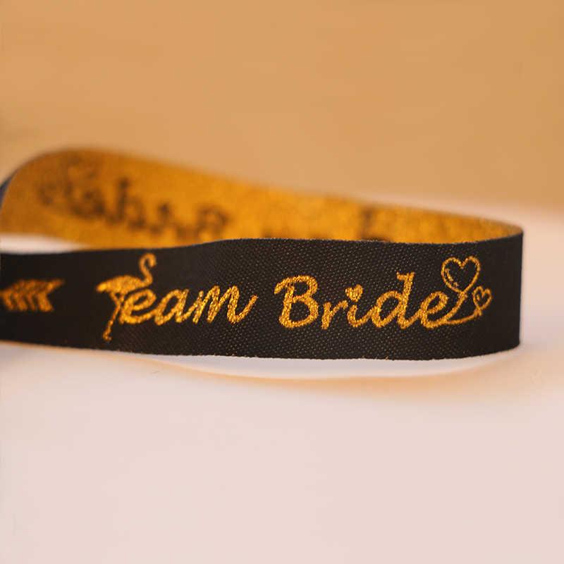 """С надписью """"Bride To Be"""" девичник вечерние браслет для невесты команда надпись «Bride Tribe» повязка на руку девичник Свадебные уп Декор IdentificationMark"""