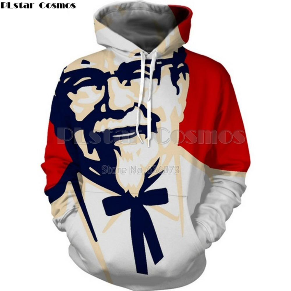 PLstar Cosmos Drop shipping 2018 new Fashion Hoodies Hot 3d Hoody Food Print Men Women Hooded Sweatshirt