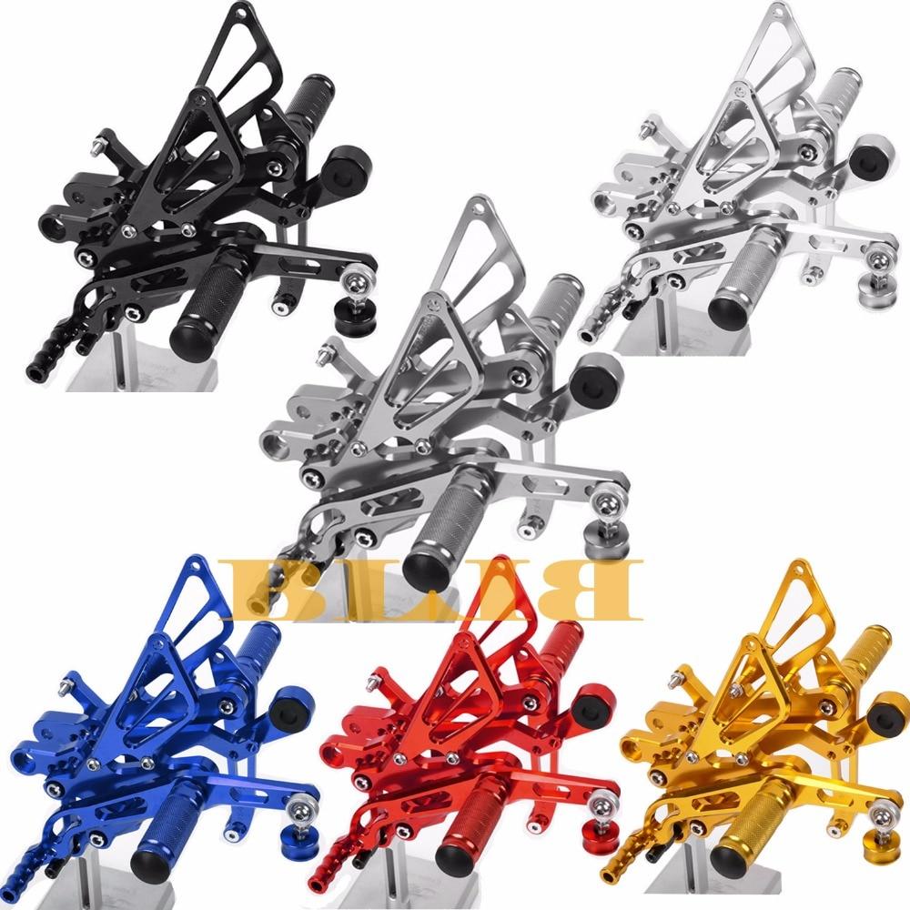 8 цветов ЧПУ Rearsets для Ямаха YZF Р25 Р3 MT25 2015 - 2016 набор мотоцикл Регулируемый задний подножки для ног колья педаль высокое качество